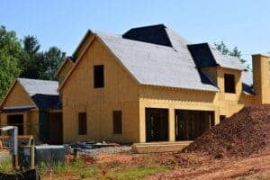photo of residential construction, which is when Kansas Mechanic's Lien Notices are required